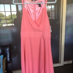 White House Black Market Pink Dress Size 14
